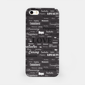 Love is like walking in the Dark iPhone Case thumbnail image