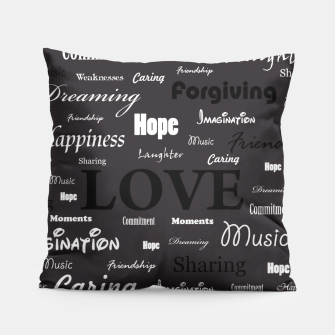 Love is like walking in the Dark Pillow thumbnail image