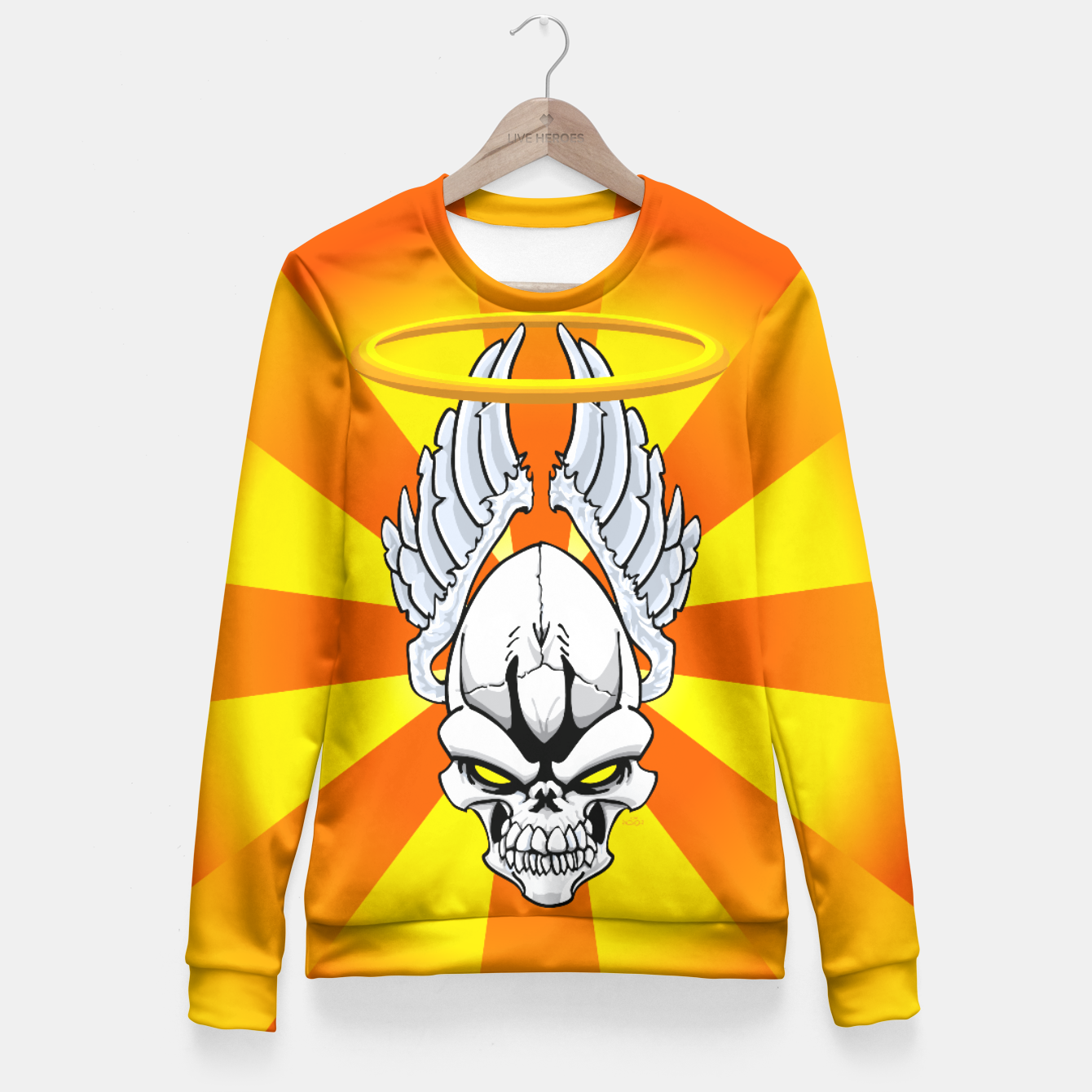Image of Death Angle Fitted Waist Sweater - Live Heroes