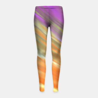 Thumbnail image of Tangerine Aurora Girl's Leggings, Live Heroes