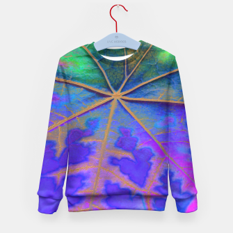 Leaf Incredible, Turquoise Kid's Sweater thumbnail image