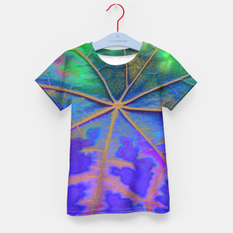 Thumbnail image of Leaf Incredible, Turquoise Kid's T-shirt, Live Heroes