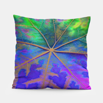 Leaf Incredible, Turquoise Pillow thumbnail image