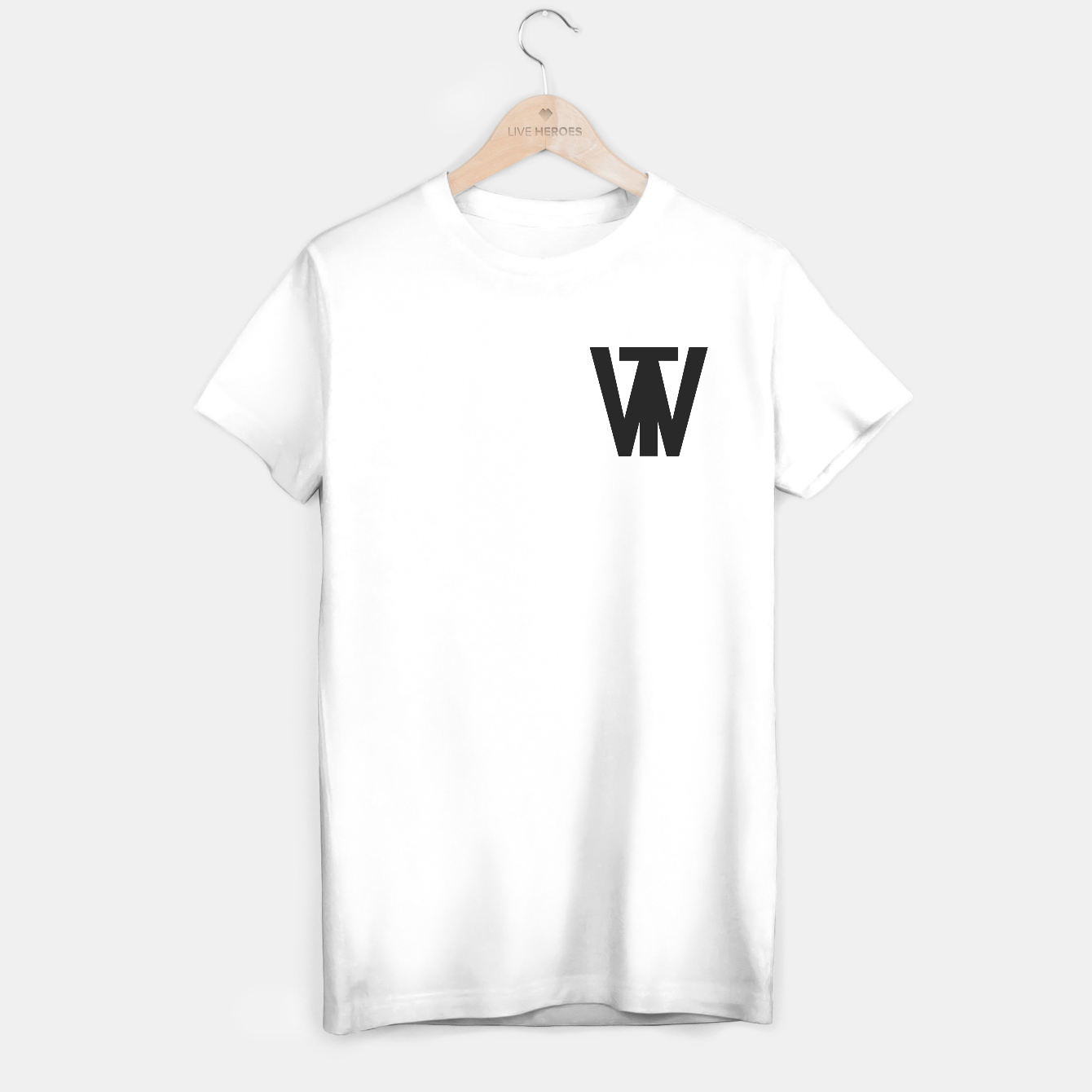 Image of White Logo T-Shirt - Live Heroes