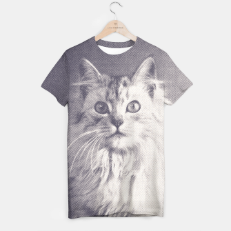 Thumbnail image of Famous Quotes Cat T-shirt, Live Heroes
