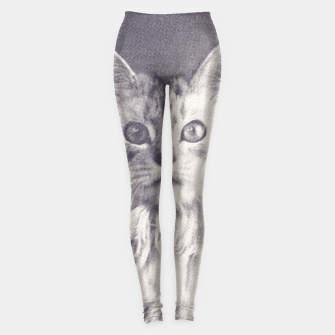 Thumbnail image of Famous Quotes Cat Leggings, Live Heroes