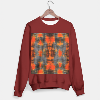 Miniaturka orange brown black and grey painting texture abstract background Sweater regular, Live Heroes
