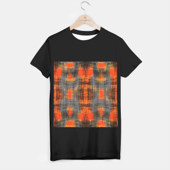 Miniaturka orange brown black and grey painting texture abstract background T-shirt regular, Live Heroes