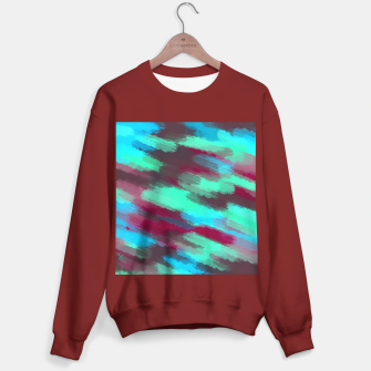 Miniaturka green blue red and brown painting texture abstract background Sweater regular, Live Heroes