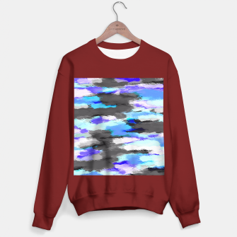 Miniaturka purple blue and black painting texture abstract background Sweater regular, Live Heroes