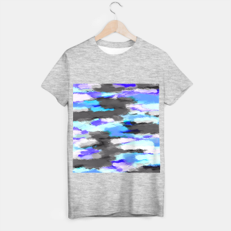 Miniaturka purple blue and black painting texture abstract background T-shirt regular, Live Heroes
