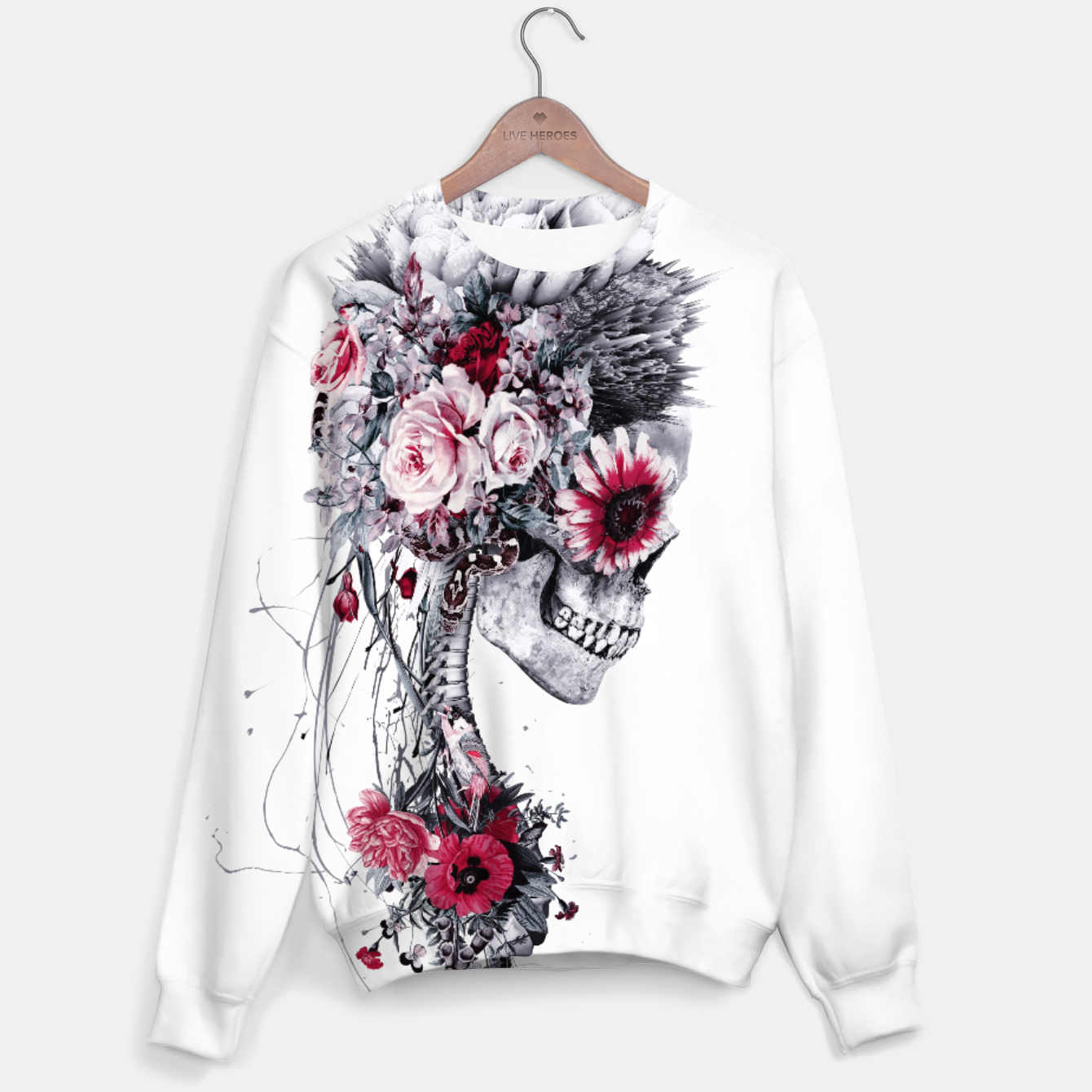 Image of Skeleton Bride Sweater - Live Heroes
