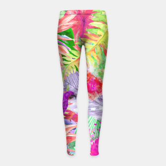 Thumbnail image of parrots girl's leggings, Live Heroes