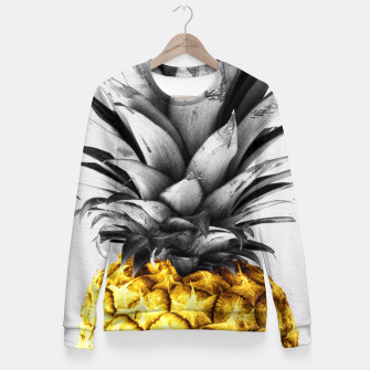 Golden pineapple Fitted Waist Sweater thumbnail image