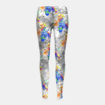 Thumbnail image of bs3 Girl's Leggings, Live Heroes