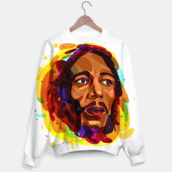 Thumbnail image of Psychedelic Bob Marley Sweater, Live Heroes