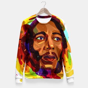 Thumbnail image of Psychedelic Bob Marley Fitted Waist Sweater, Live Heroes