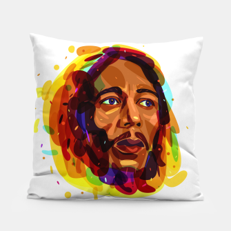 Thumbnail image of Psychedelic Bob Marley Pillow, Live Heroes