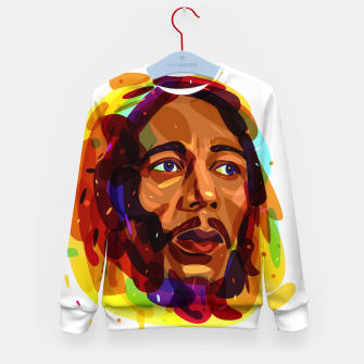 Thumbnail image of Psychedelic Bob Marley Kid's Sweater, Live Heroes
