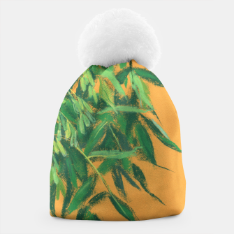 Thumbnail image of Ash-tree, floral art, green & yellow, summer greenery Beanie, Live Heroes