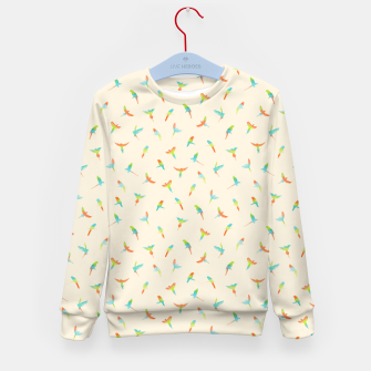 Thumbnail image of Parrots Papagei Kid's Sweater, Live Heroes