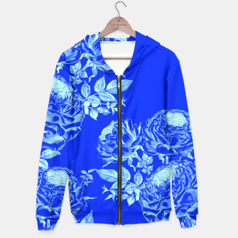 Thumbnail image of Psychedelic Blue Roses  Hoodie, Live Heroes