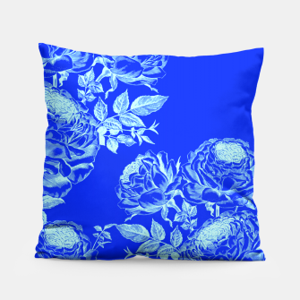 Thumbnail image of Psychedelic Blue Roses  Pillow, Live Heroes