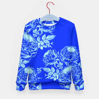 Thumbnail image of Psychedelic Blue Roses  Kid's Sweater, Live Heroes