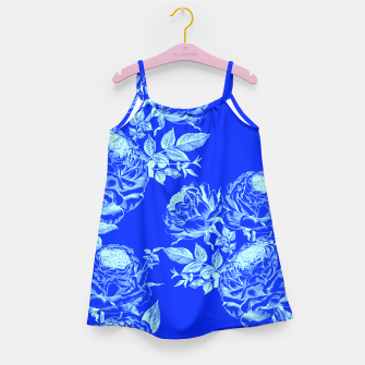 Thumbnail image of Psychedelic Blue Roses  Girl's Dress, Live Heroes
