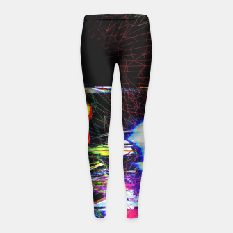 Miniature de image de Mr. Glitch Girl's Leggings, Live Heroes