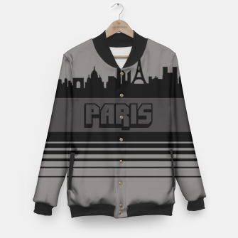 Thumbnail image of Skylines Collection: Paris  Baseball Jacket, Live Heroes