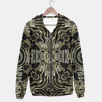 Thumbnail image of Golden Zebra Print Tribal  Hoodie, Live Heroes
