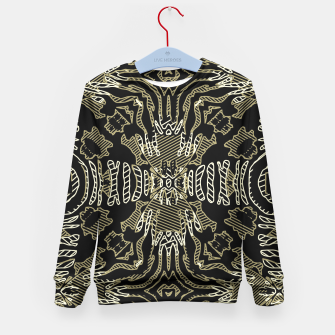 Thumbnail image of Golden Zebra Print Tribal  Kid's Sweater, Live Heroes