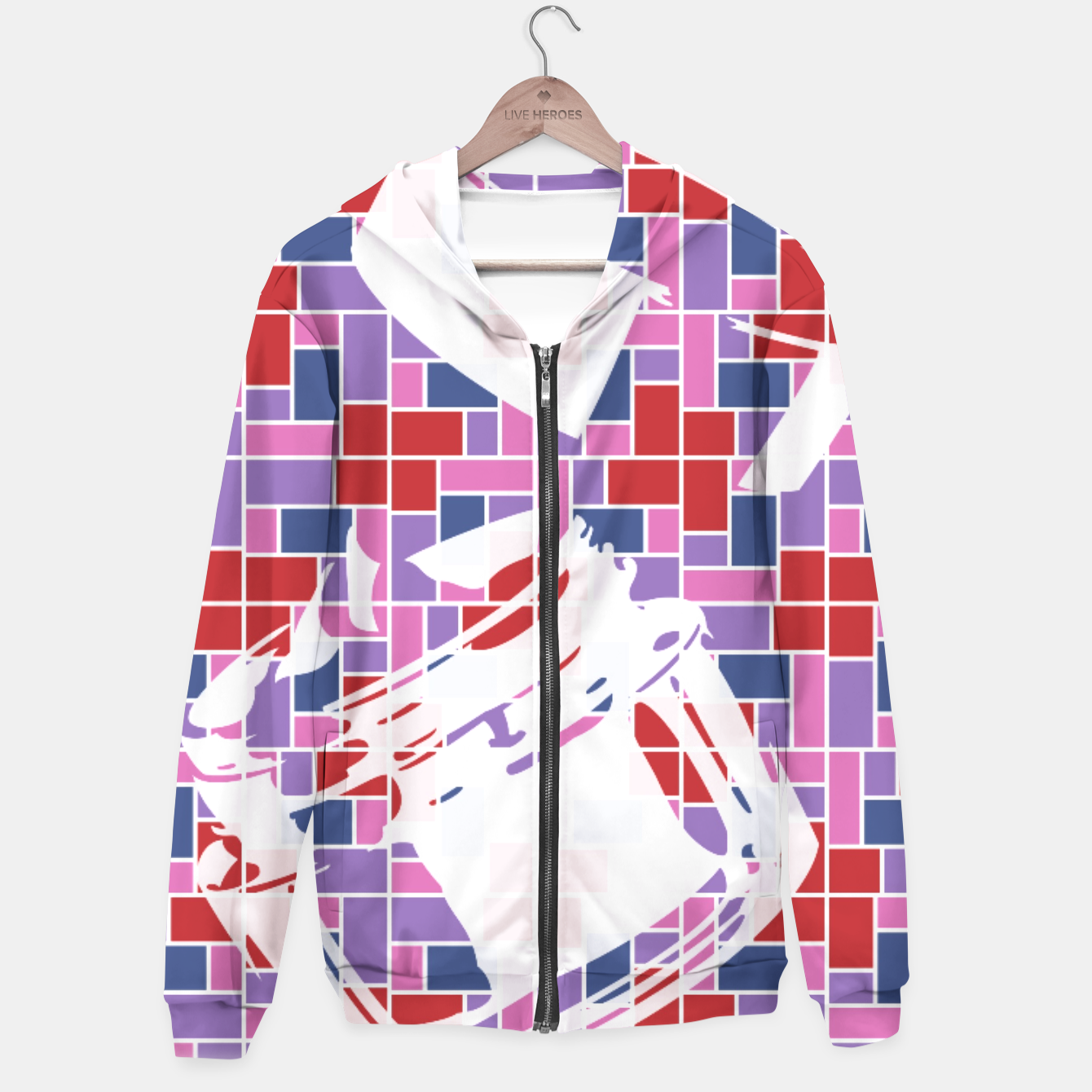 Image of Out of the Box (Pattern_01) Hoodie - Live Heroes
