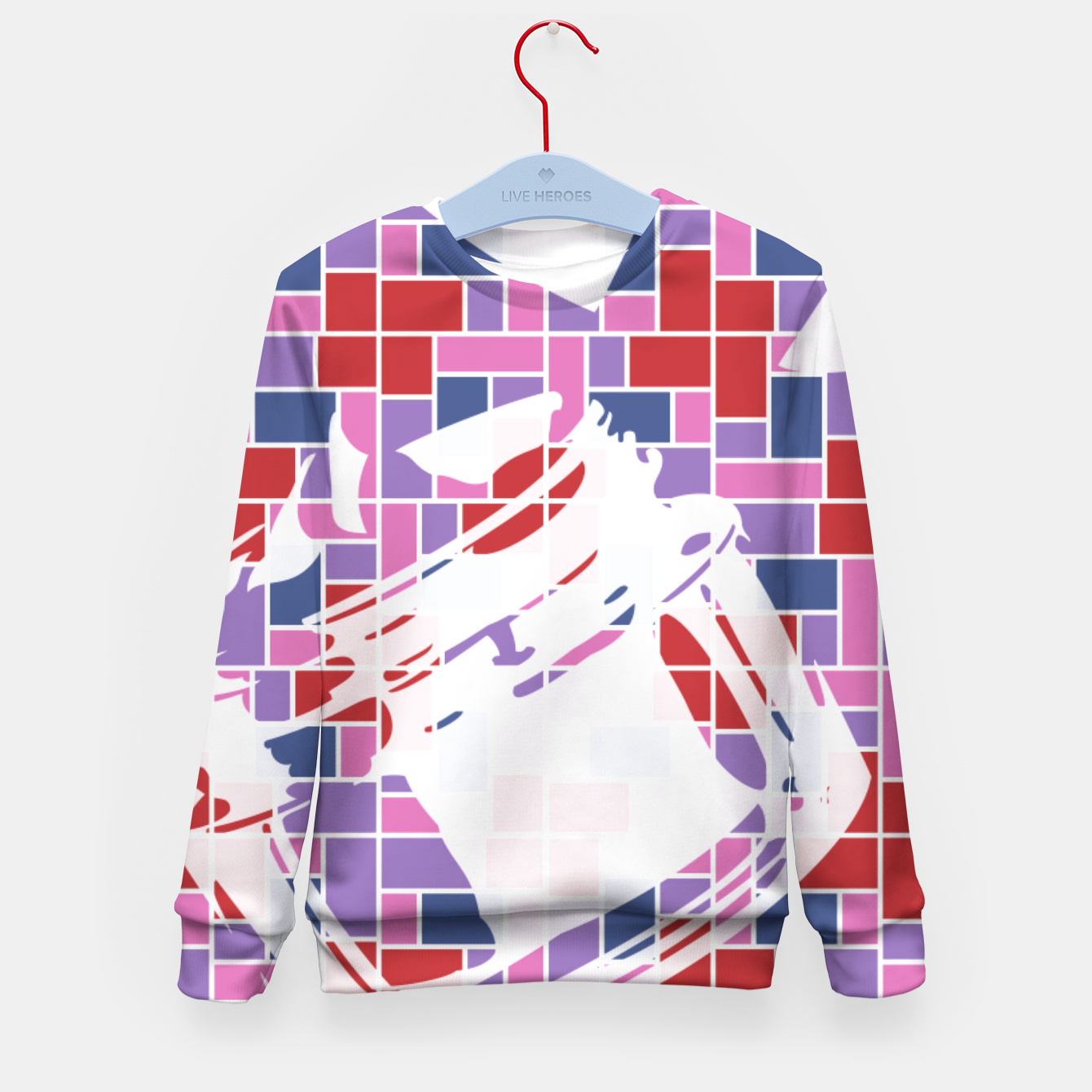 Image of Out of the Box (Pattern_01) Kid's Sweater - Live Heroes