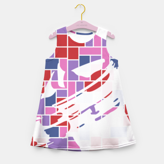 Thumbnail image of Out of the Box (Pattern_01) Girl's Summer Dress, Live Heroes