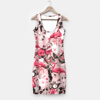 Thumbnail image of Floral and Flemingo III Pattern Simple Dress, Live Heroes