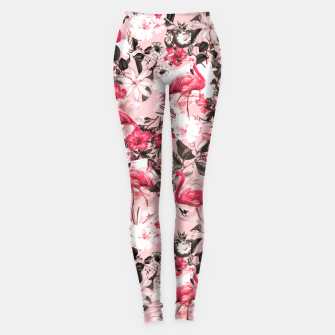 Thumbnail image of Floral and Flemingo III Pattern Leggings, Live Heroes