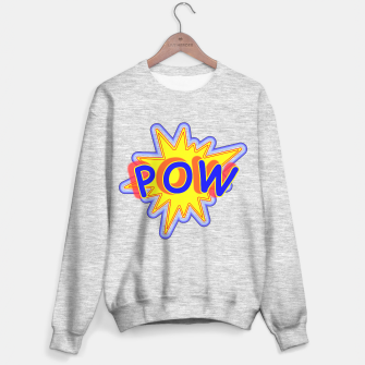 Thumbnail image of Pow Fun Bright Comic Book Popping Graphic Sweater regular, Live Heroes
