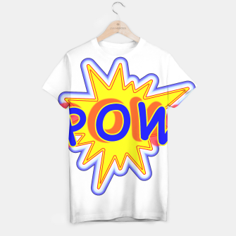 Thumbnail image of Pow Fun Bright Comic Book Popping Graphic T-shirt, Live Heroes