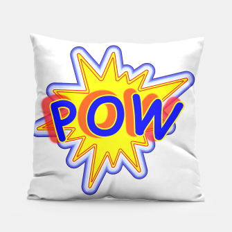 Thumbnail image of Pow Fun Bright Comic Book Popping Graphic Pillow, Live Heroes
