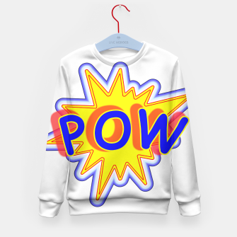 Thumbnail image of Pow Fun Bright Comic Book Popping Graphic Kid's Sweater, Live Heroes
