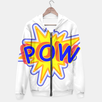 Thumbnail image of Pow Fun Bright Comic Book Popping Graphic Hoodie, Live Heroes