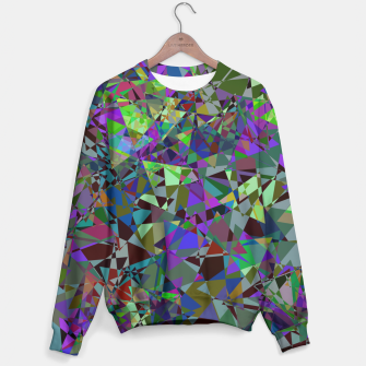 Miniatur Trippy Florescent Psychotic Mess Sweater, Live Heroes