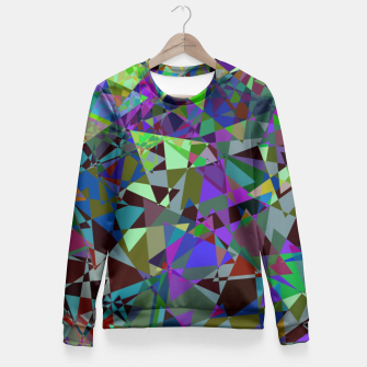 Miniatur Trippy Florescent Psychotic Mess Fitted Waist Sweater, Live Heroes