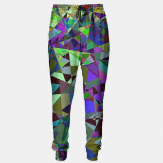 Thumbnail image of Trippy Florescent Psychotic Mess Sweatpants, Live Heroes