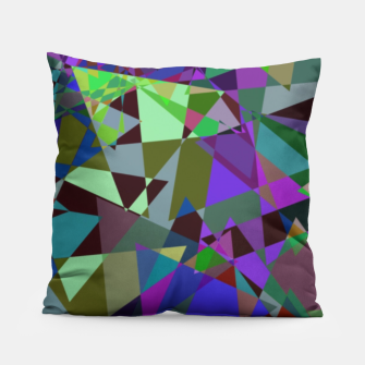 Thumbnail image of Trippy Florescent Psychotic Mess Pillow, Live Heroes