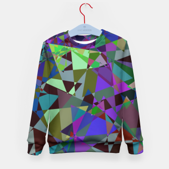 Thumbnail image of Trippy Florescent Psychotic Mess Kid's Sweater, Live Heroes