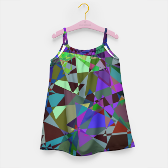 Thumbnail image of Trippy Florescent Psychotic Mess Girl's Dress, Live Heroes