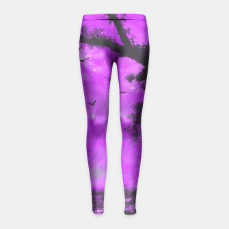 Miniaturka The Purple Forest Girl's Leggings, Live Heroes